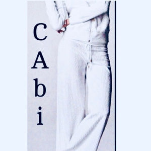 CAbi white Miami lounge pants